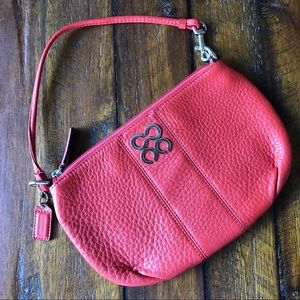 Coach Sweetheart Red Leather Zip Wristlet